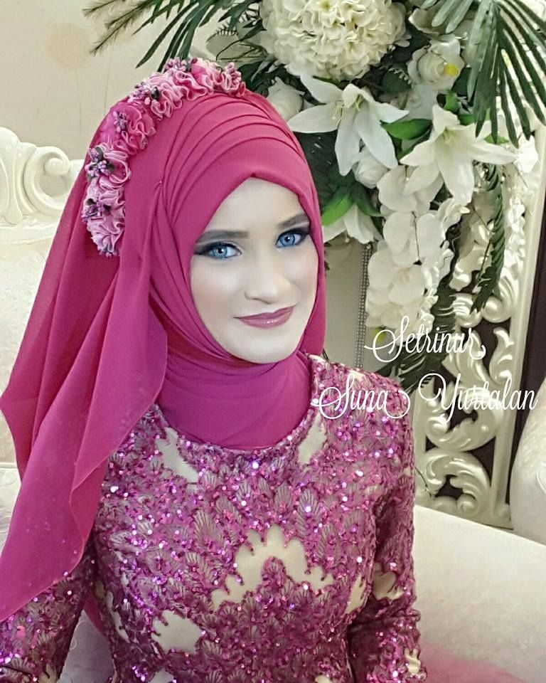 Pin By Irma Nurlaeli On Hijab Tutorial | Pinterest | Muslim Hijabs And Muslim Brides