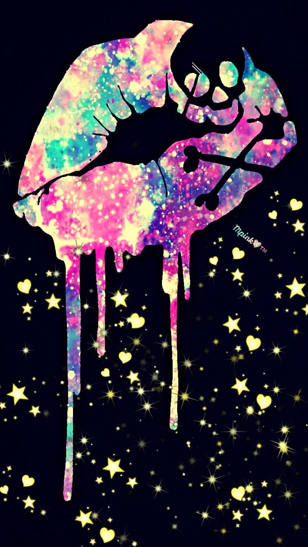 Pin By Mistica Abril On Soleil Et Pluie Skull Wallpaper Galaxy Wallpaper Art