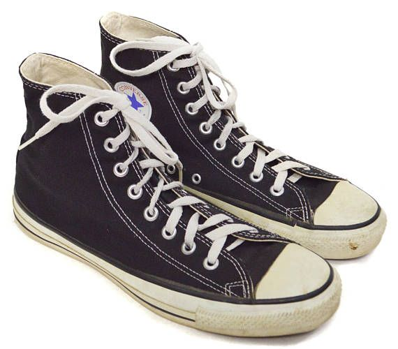 41e9300cff83 Vintage 90s Converse All Star Chuck Taylor Black High Tops