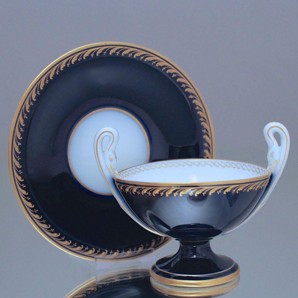 Kpm Berlin Tasse Mit Schlangenhenkel Doppelhenkeltasse Kobalt Blau Cup Gold Cobalt Blue Snake Handles Art Nouveau Raused Gold Sammeltassen Tassen Kobalt