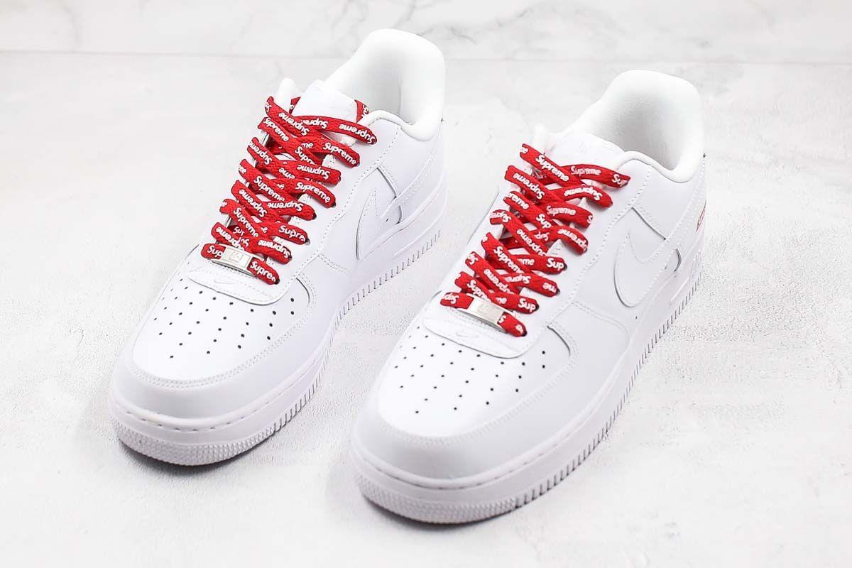 2020 Nike Air Force 1 Low Supreme White Cu9225 100 In 2020 Nike Air Force Nike Nike Air