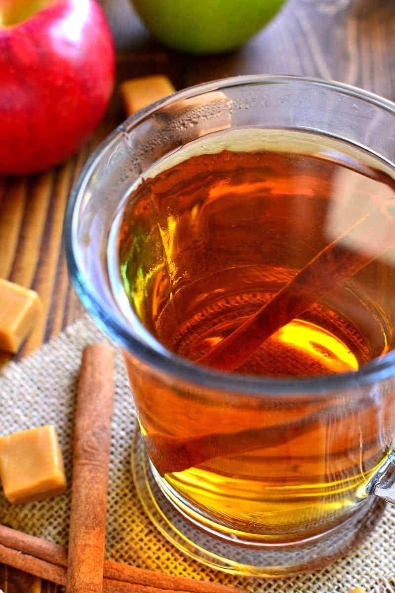 Boozy Butterscotch Crock Pot Apple Cider Recipe Cider Recipe Spiced Drinks Apple Cider Drinks Alcohol