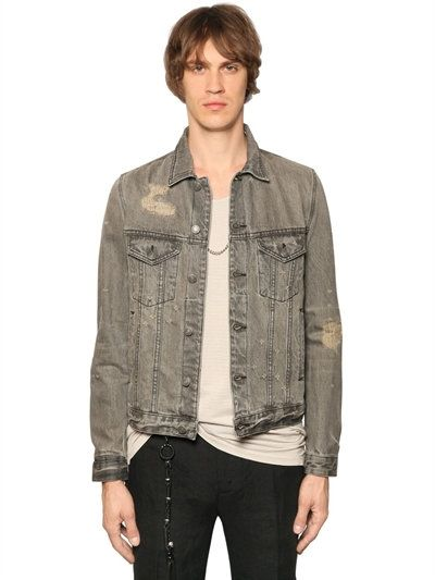 b539ebad63 THE KOOPLES DISTRESSED WASHED COTTON DENIM JACKET, GREY. #thekooples #cloth  #casual jackets