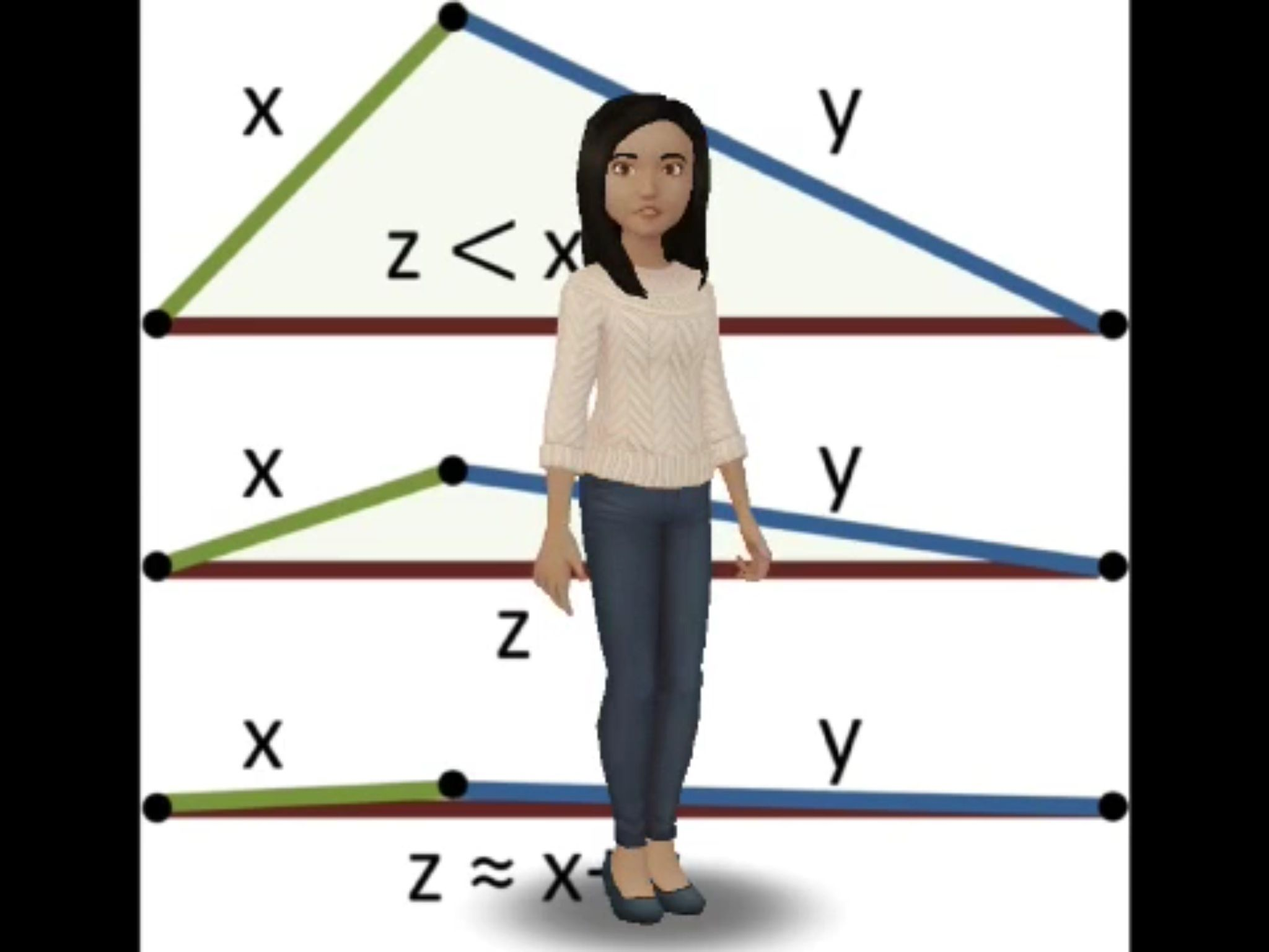 Ar Trigger To Geometry Lesson About Triangle Inequality Theorem Geometry Lessons Triangle Inequality Theorems