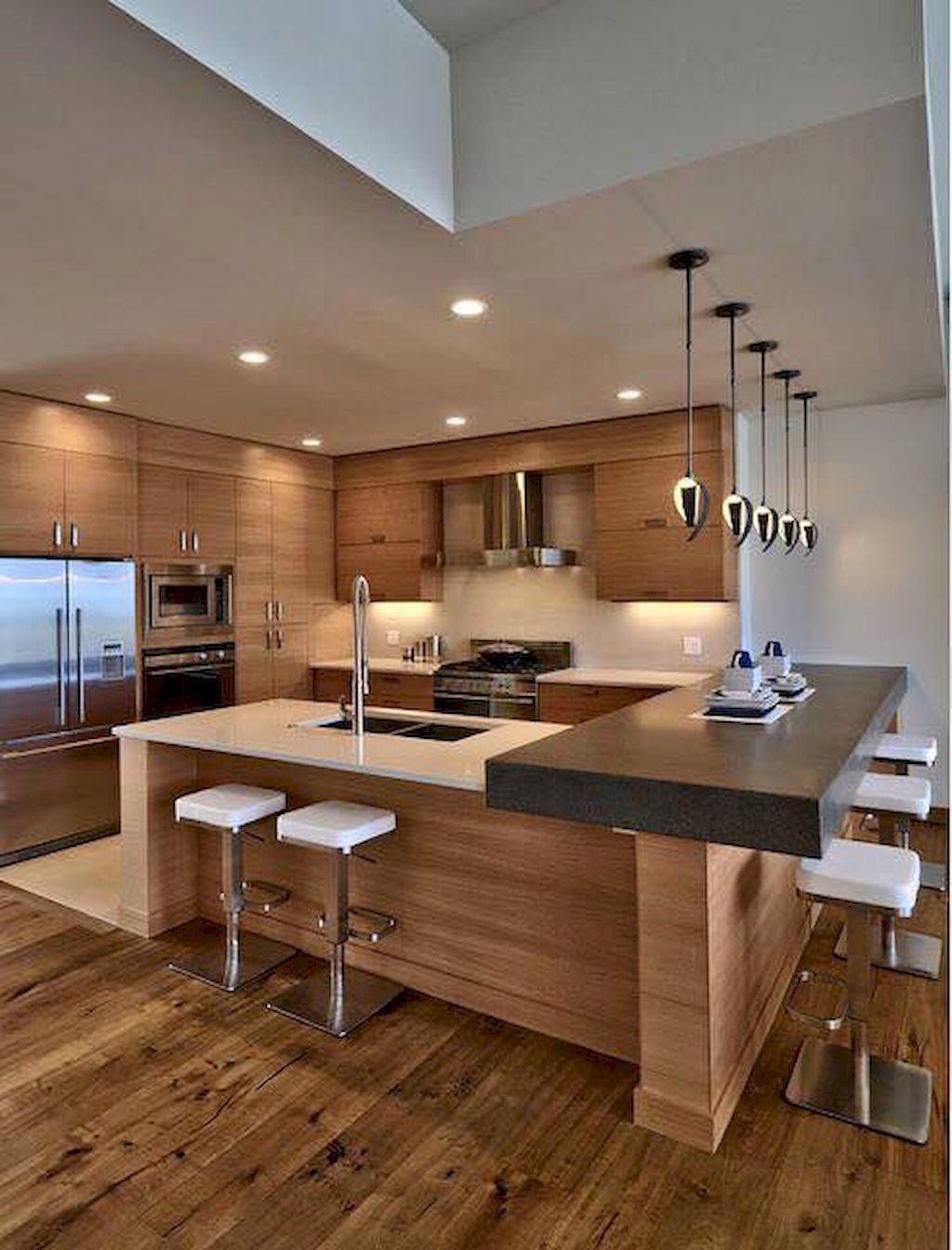 60 Awesome Modern Kitchens Ideas Remodeling On A Budget | Pinterest ...
