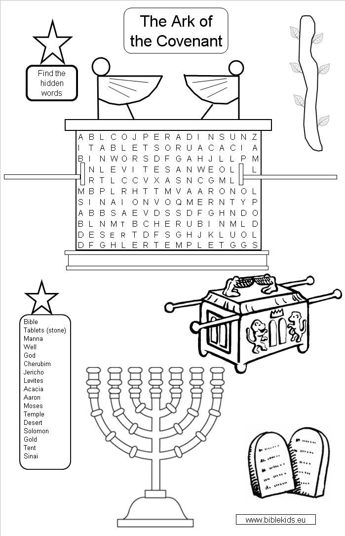 Free Ark Of The Covenant Coloring Page