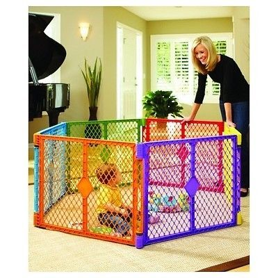 Toddler Play Yard Baby Portable Playpen Safety Gate Fence Pet Pen Child Outdoor Baby Play Yard Play Yard Baby Gates