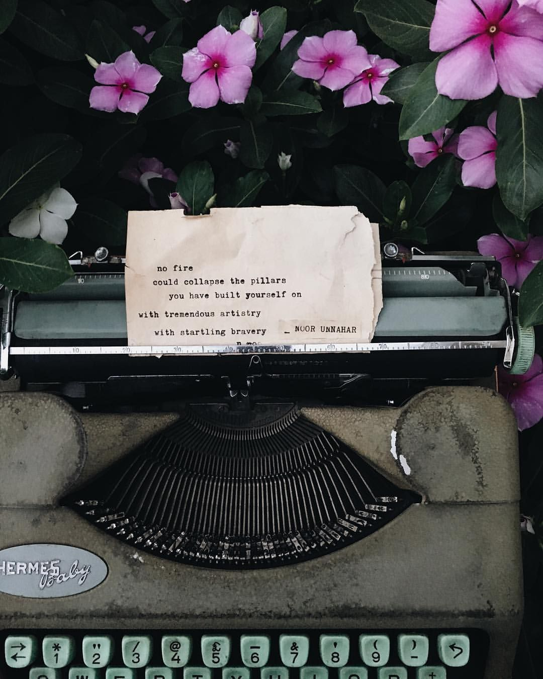 Quotes About Being Pale: Your Existence Is Art // Poetry On The Typewriter By Noor