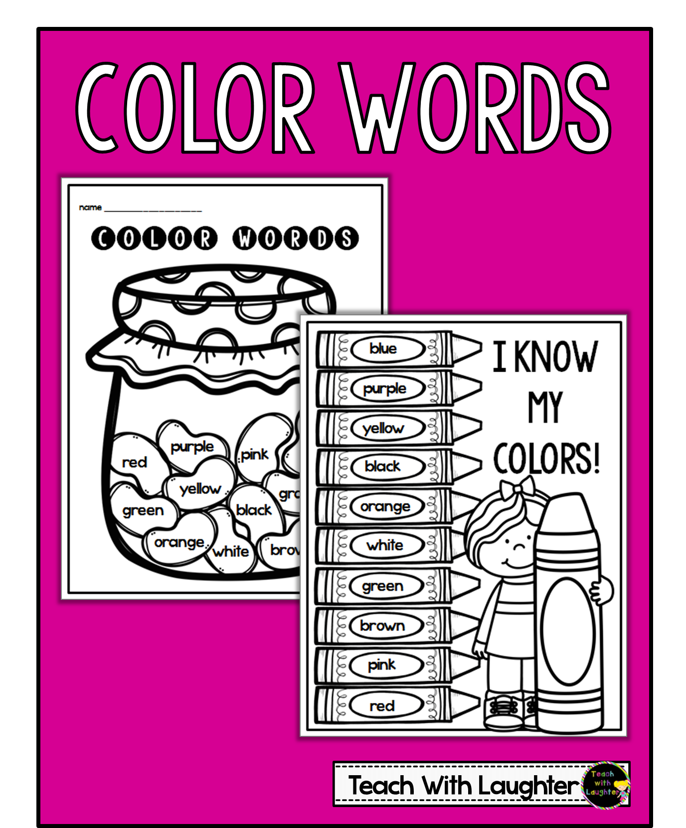 A Color Words Activity With Free Download