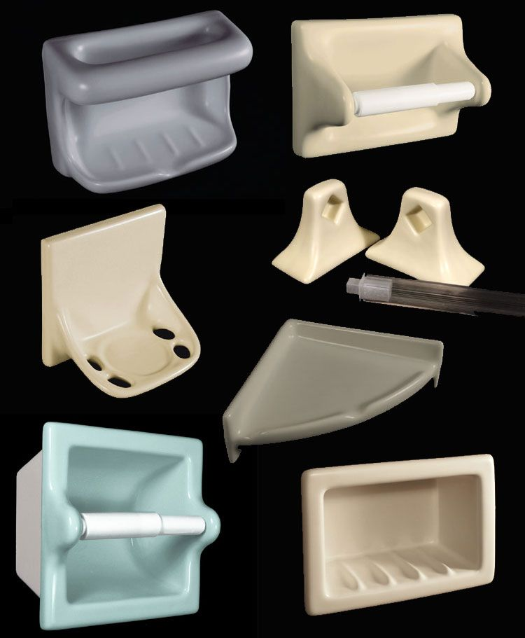 Ceramic Soap Dishes Shampoo Cubbies Tp Holders More Retro Renovation