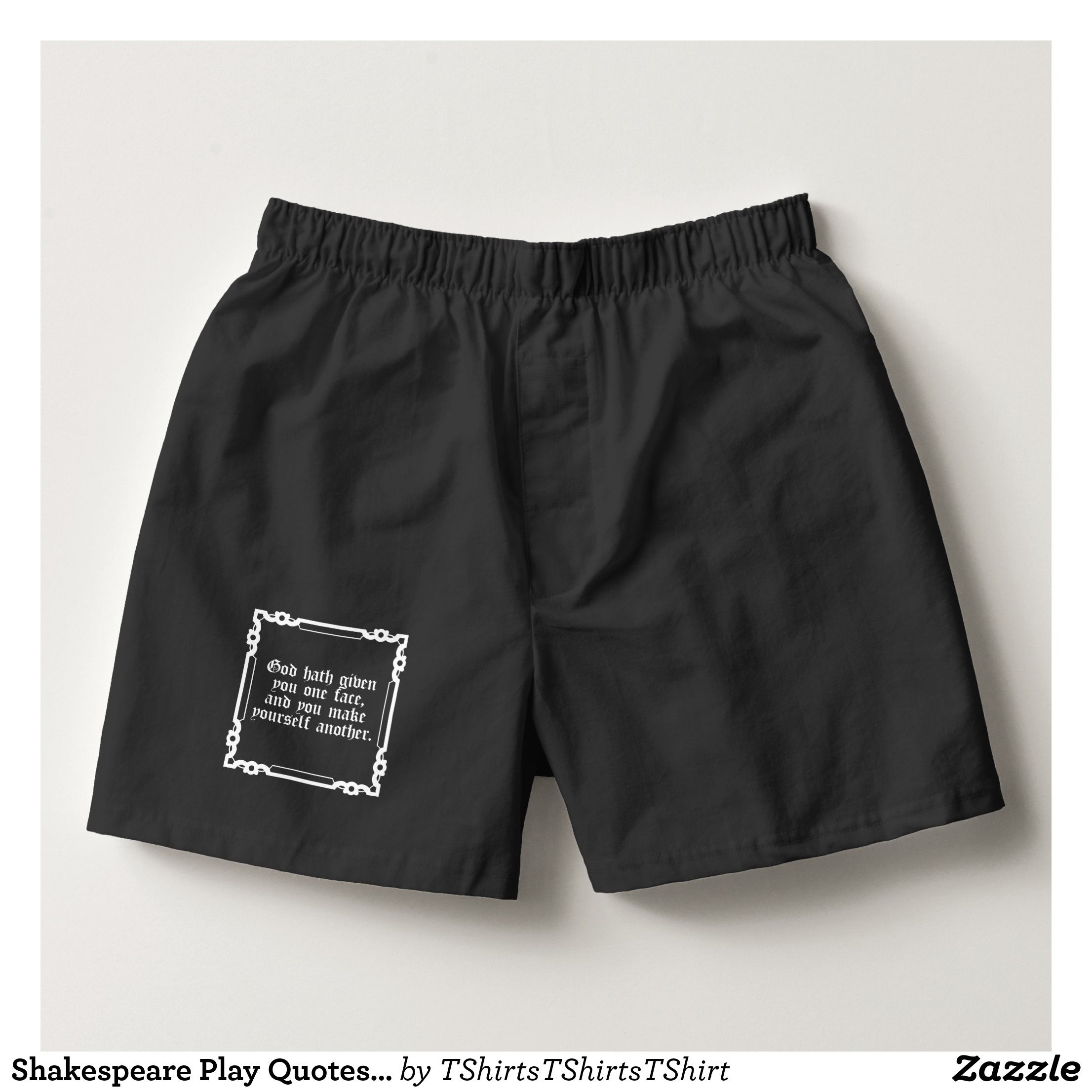 1ae00066280b Shakespeare Play Quotes Hamlet God Hath Given You Boxers - Dashing Cotton  Underwear And Sleepwear By Talented Fashion And Graphic Designers -   underwear ...