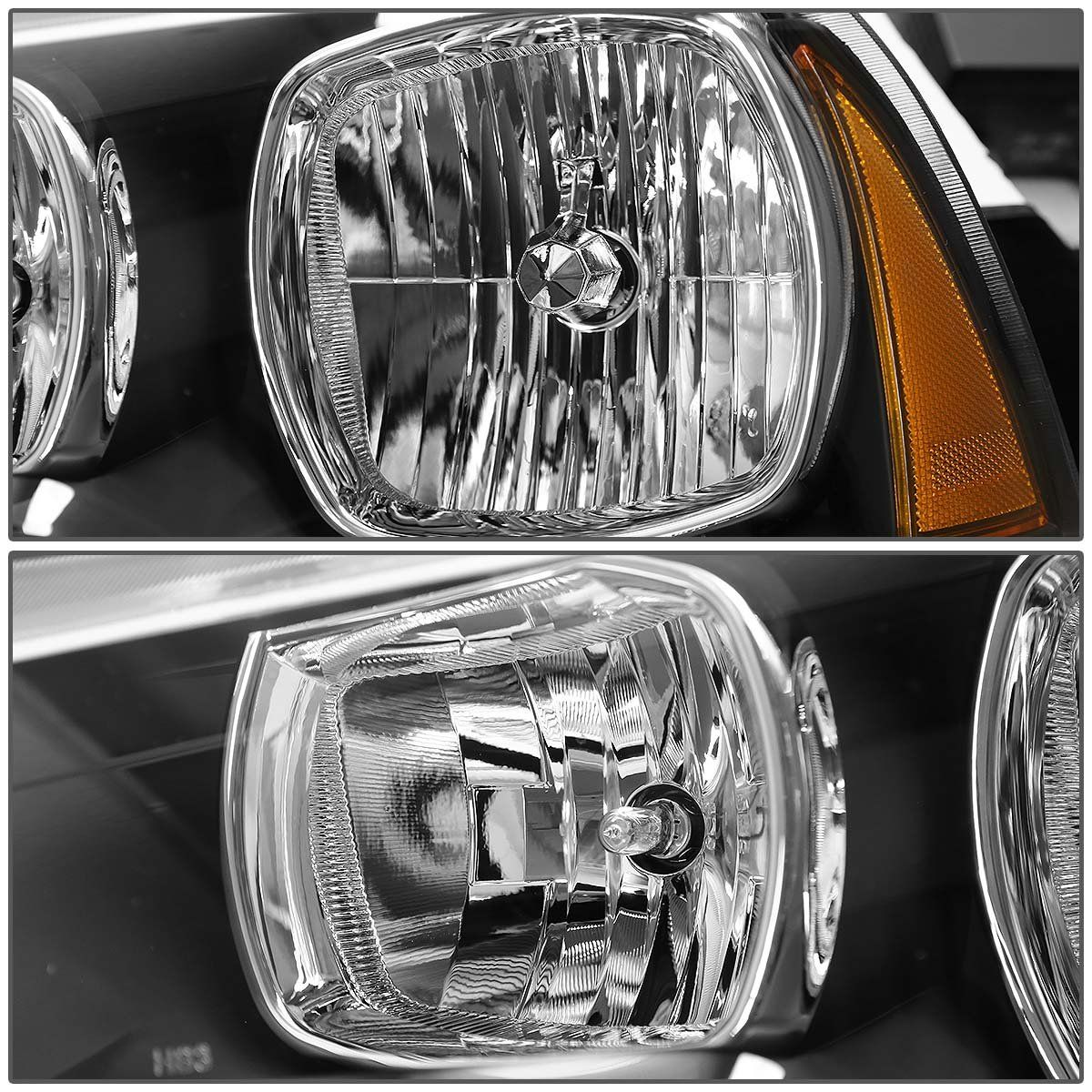 11 14 Dodge Charger Headlights Black Housing Amber Corner Dodge Charger Black House Headlights