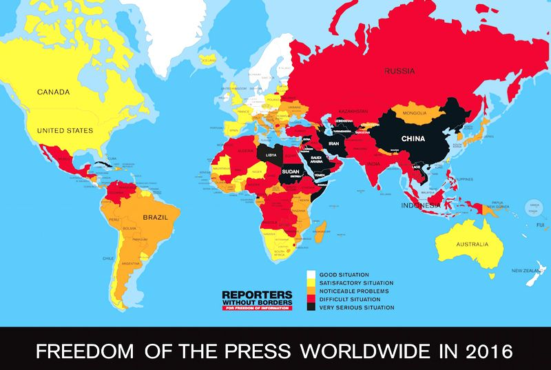 Pin by on maps pinterest history 2016 world press freedom index leaders paranoid about journalists gumiabroncs