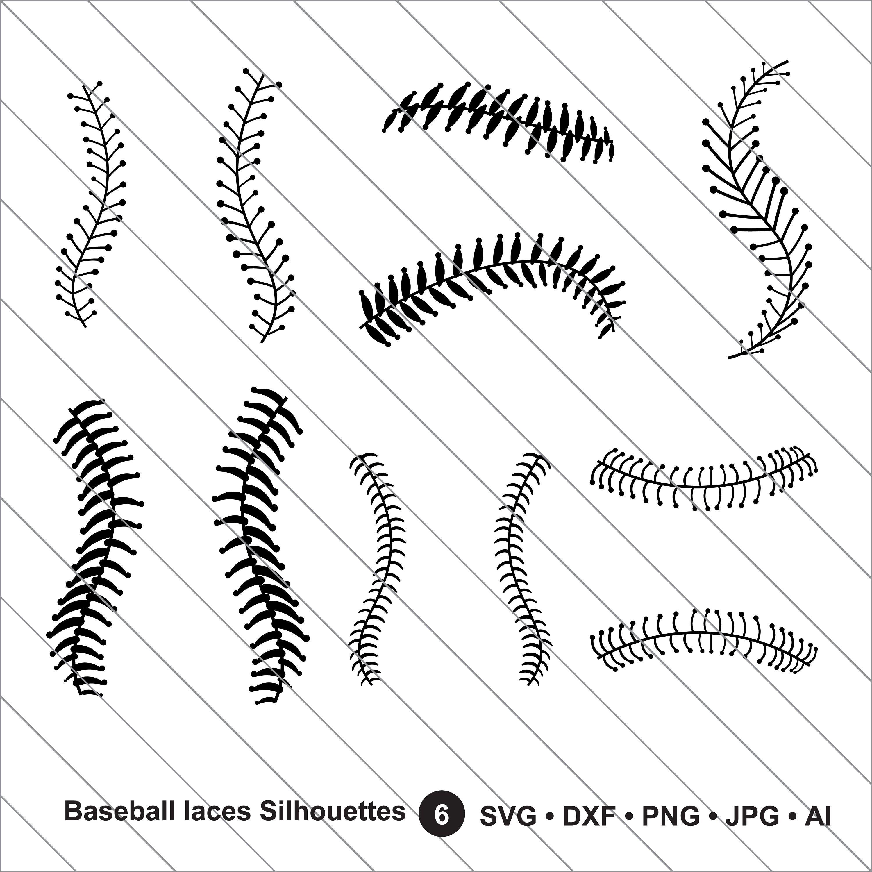 Baseball Laces Silhouettes Svg Baseball Mom Svg Baseball Etsy Baseball Stitch Cards Handmade Svg