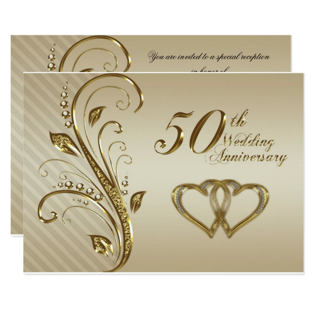 50th Wedding Anniversary RSVP Card | Zazzle.com