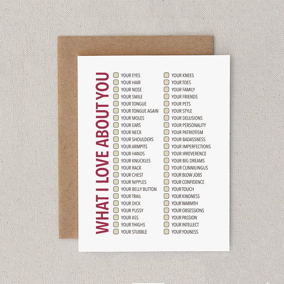 What words..., Adult love card remarkable topic