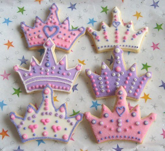 Princess Crown  Tiara  Cookie Favors. Getting my local cake decorator to do this!
