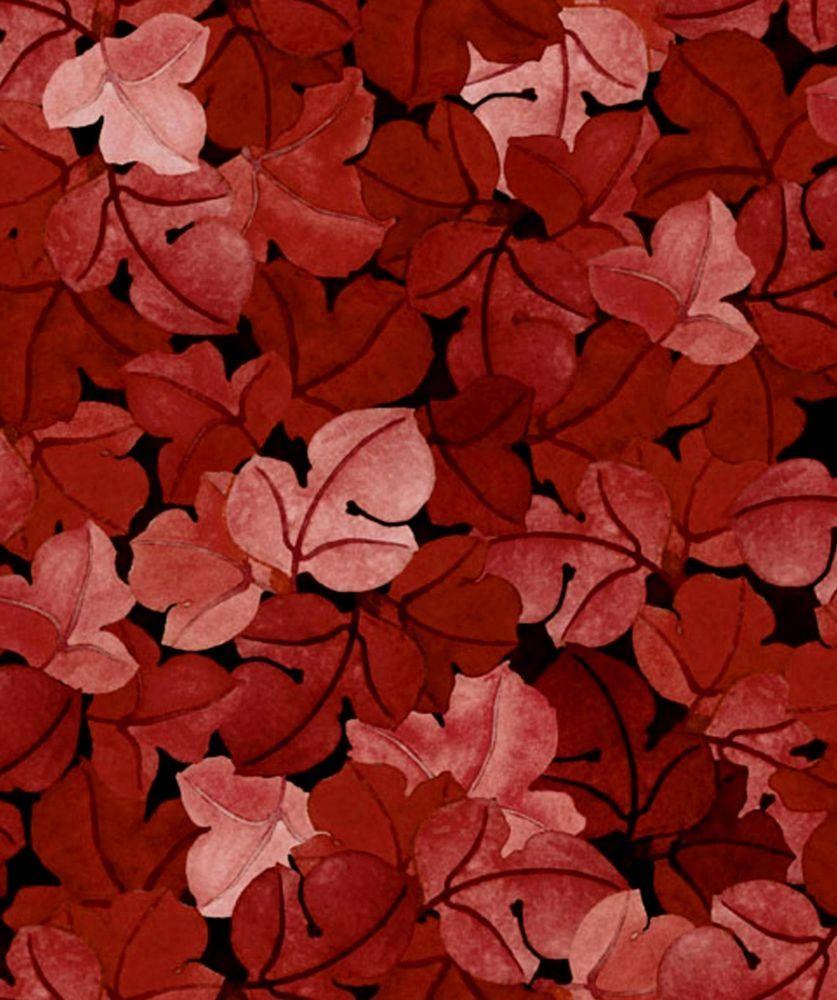 Maroon Garden Ideas: Fabric #2207, Autumn Harvest Maroon Leaves Jason Yenter
