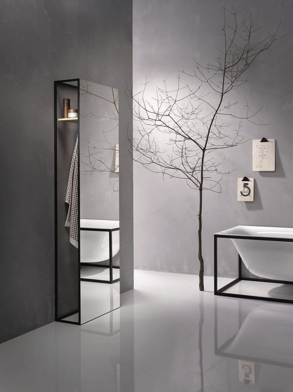 Spiegel Stell Modern Rechteckig Mit Regal Bettelux Shape Bette Badezimmer Innenausstattung Showroom Ideen Badezimmer Dekor