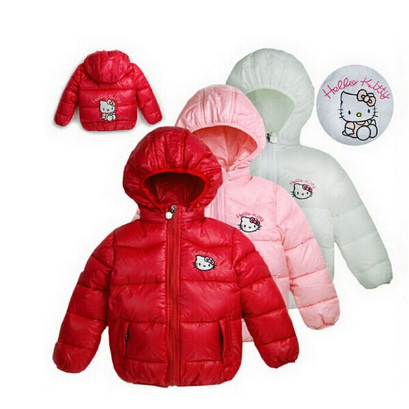 4092fdd14 4 Color Winter Girls Jacket Hello Kitty Cartoon Casual Hooded Children Coats  Girls Vest Cotton Windbreaker Clothes Kids Clothing //Price: $26.28 & FREE  ...
