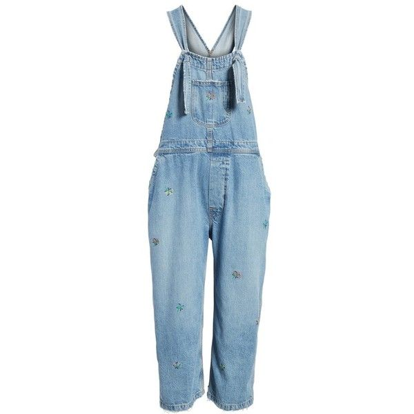 ec081702ed9 The Shop Embroidered Overalls ( 395) ❤ liked on Polyvore featuring jumpsuits