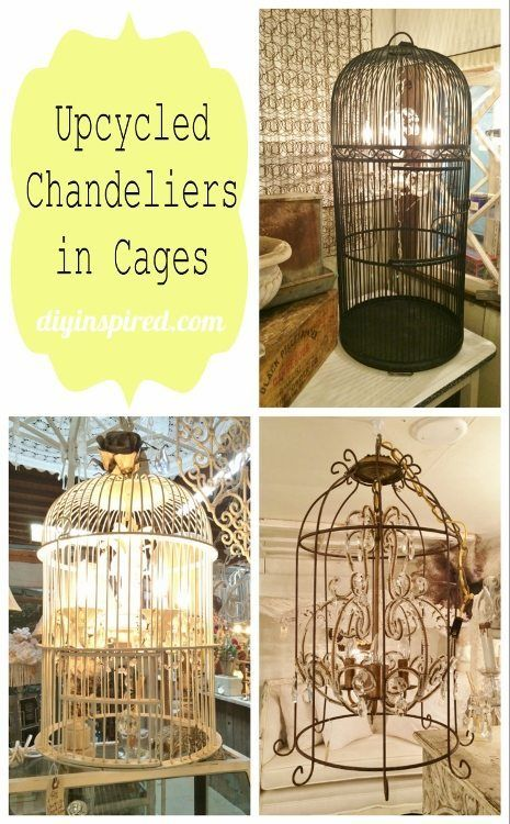 Upcycling And Repurposing Ideas For Lighting Diy Lighting Bird Cage Decor Upcycle