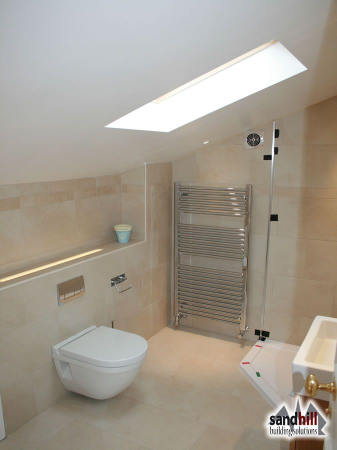 Bedroom With Bathroom: Loft Conversion Bedroom With Ensuite, Putney, London SW15