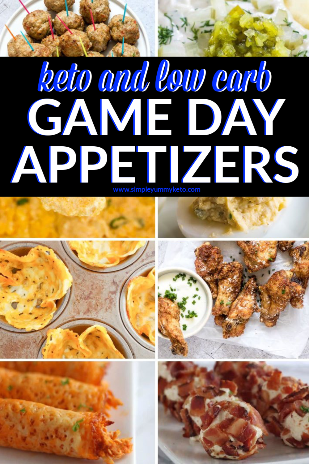 Low Carb Game Day Appetizers (2020) Superbowl appetizers