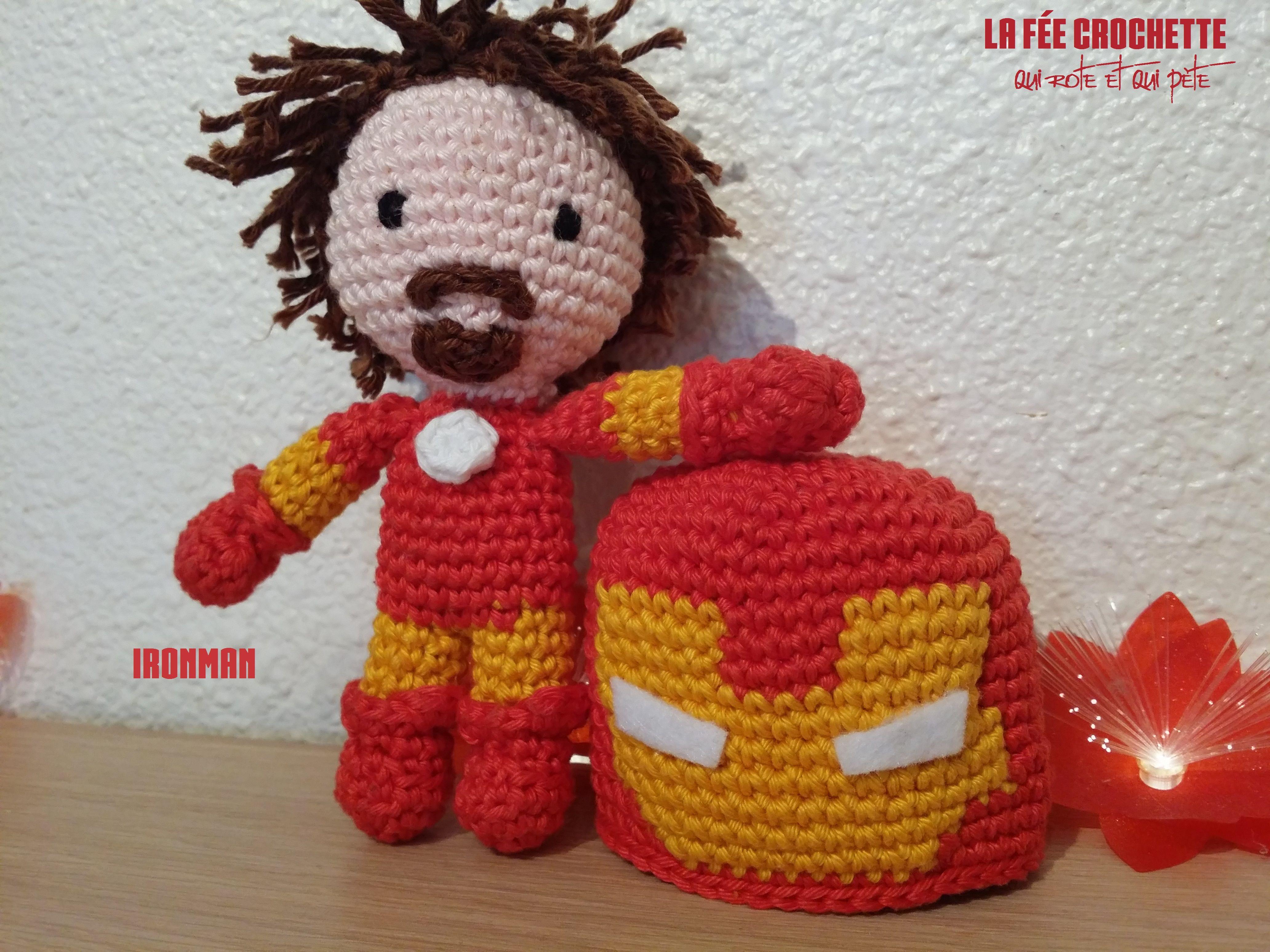 daxa rabalea: Iron Man amigurumi - patrón gratis | 3096x4128