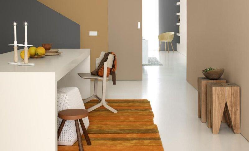 Farbe in der Wohnung \u2013 25 Ideen mit warmen Nuancen Pinterest - farbe wohnzimmer ideen