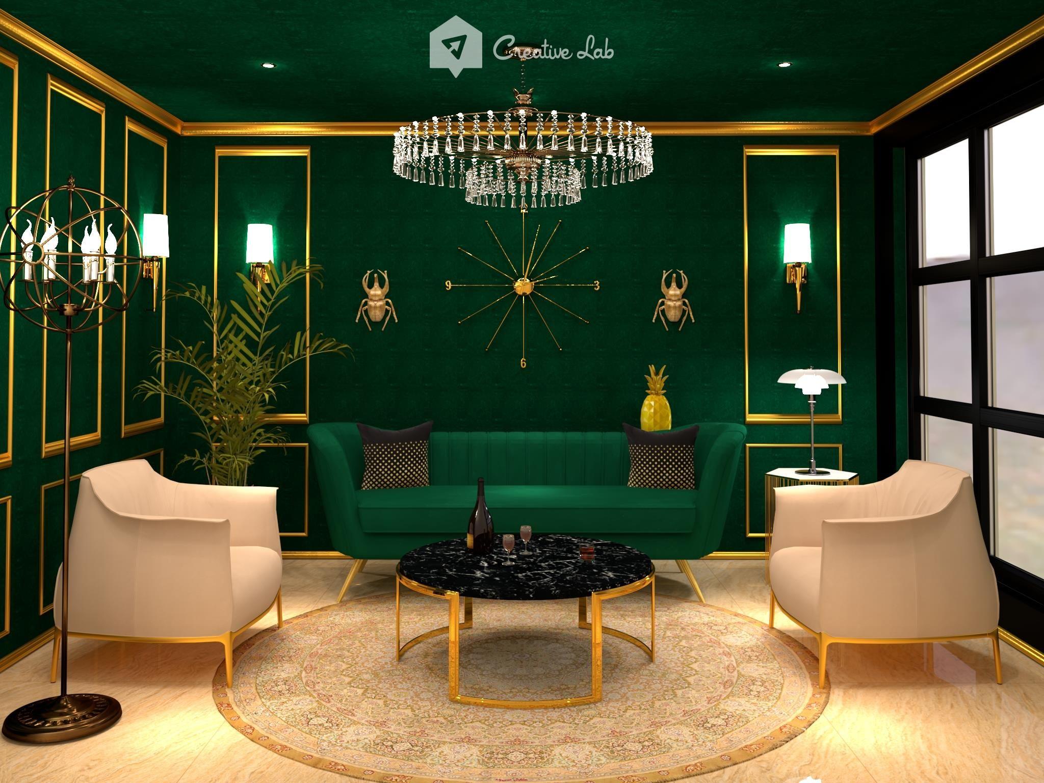 Mawi Livingroom Visoft360 In 2021 Art Deco Living Room Art Deco Home Interior Deco