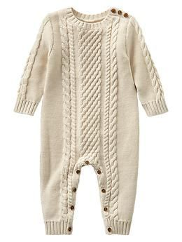 Cable Knit One Piece Gap Baby Boy Outfits Knitted