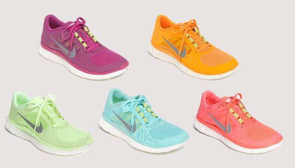 nike free run colour range