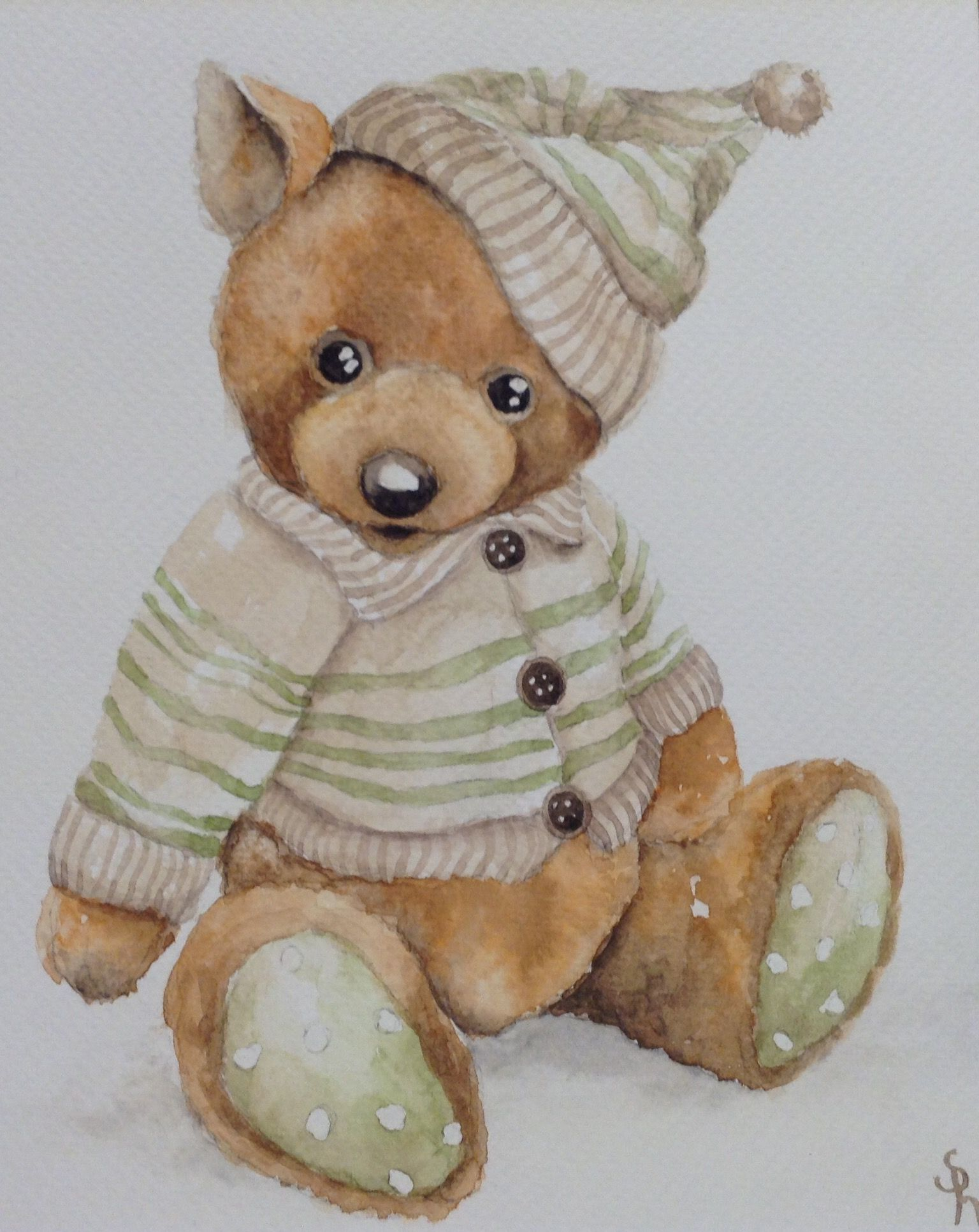 Petit Ours Brun Fait De La Peinture : petit, peinture, JOLIS, NOUNOURS, Dessin, Nounours,, Aquarelle, Ours,, Peinture, Enfant