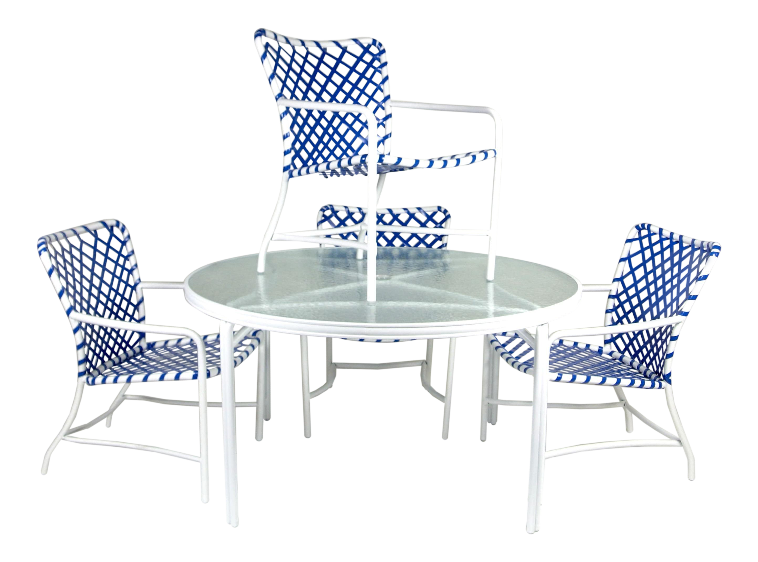 Introduced in 1964 and became one of the most popular outdoor poolside patio furniture restored by cfr this aluminum frame chair was powder coated