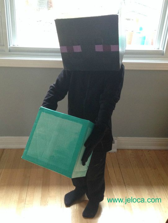 How To Make A Minecraft Enderman Head With Bonus Diamond Block