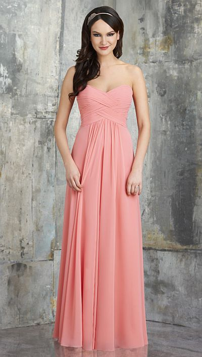 7d99ca2feae6 Bridesmaids  Dresses   Bari Jay 555 Bridesmaid Dress   This long bridesmaid  dress has a slight sweetheart bust with layered shirred criss cross bodice