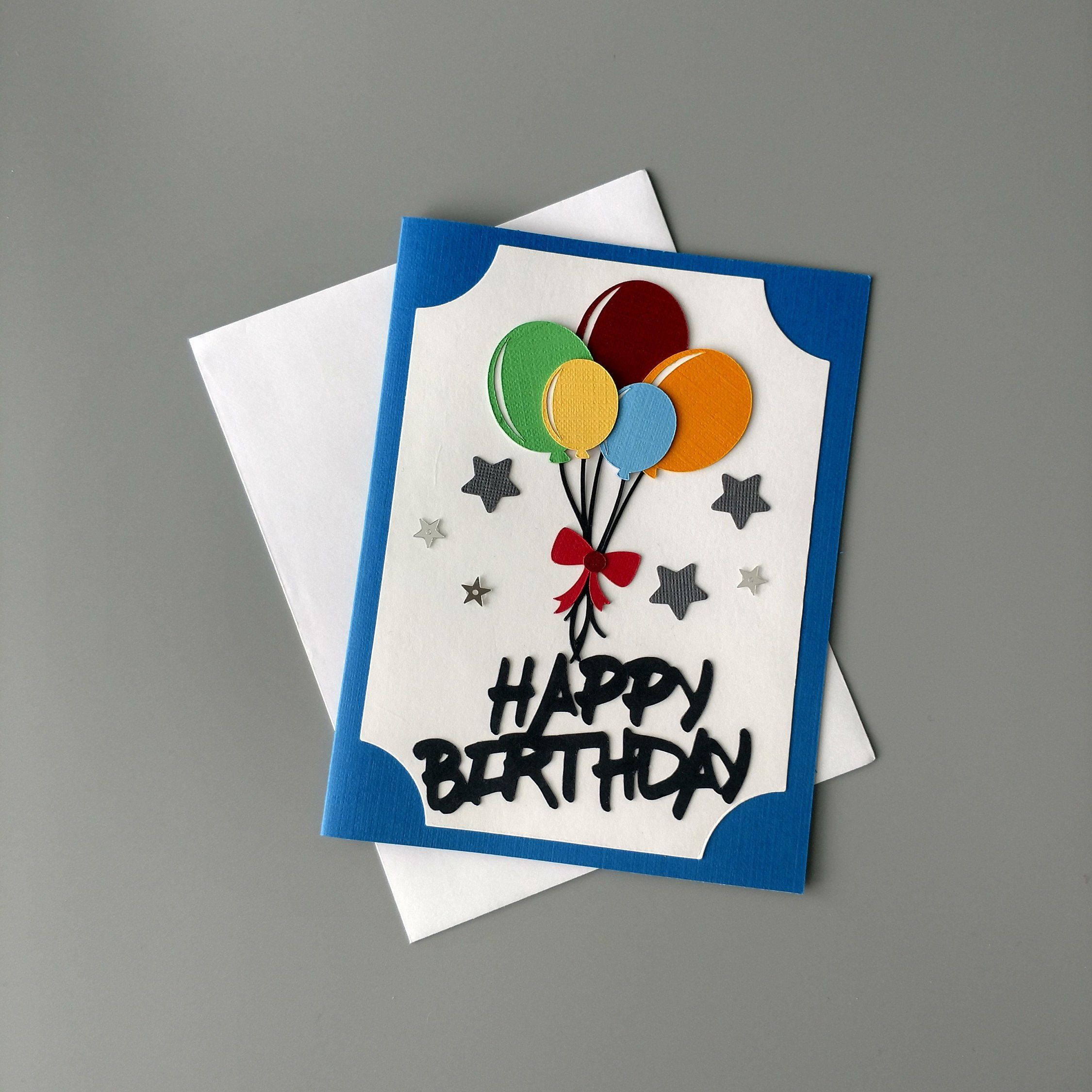 Birthday Card With Balloons Friend Birthday Card Happy Birthday