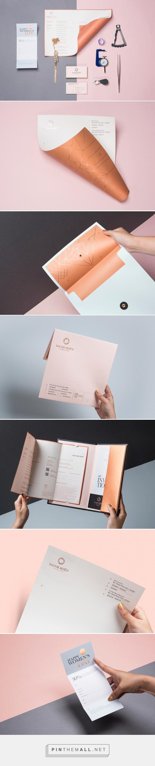Elegant branding design for Danh Hien Jewelers