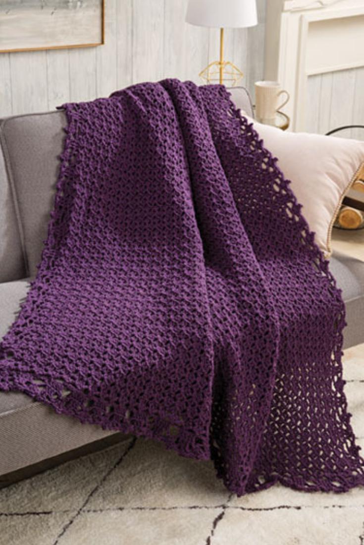 Crochet Pattern for Stunning Throw