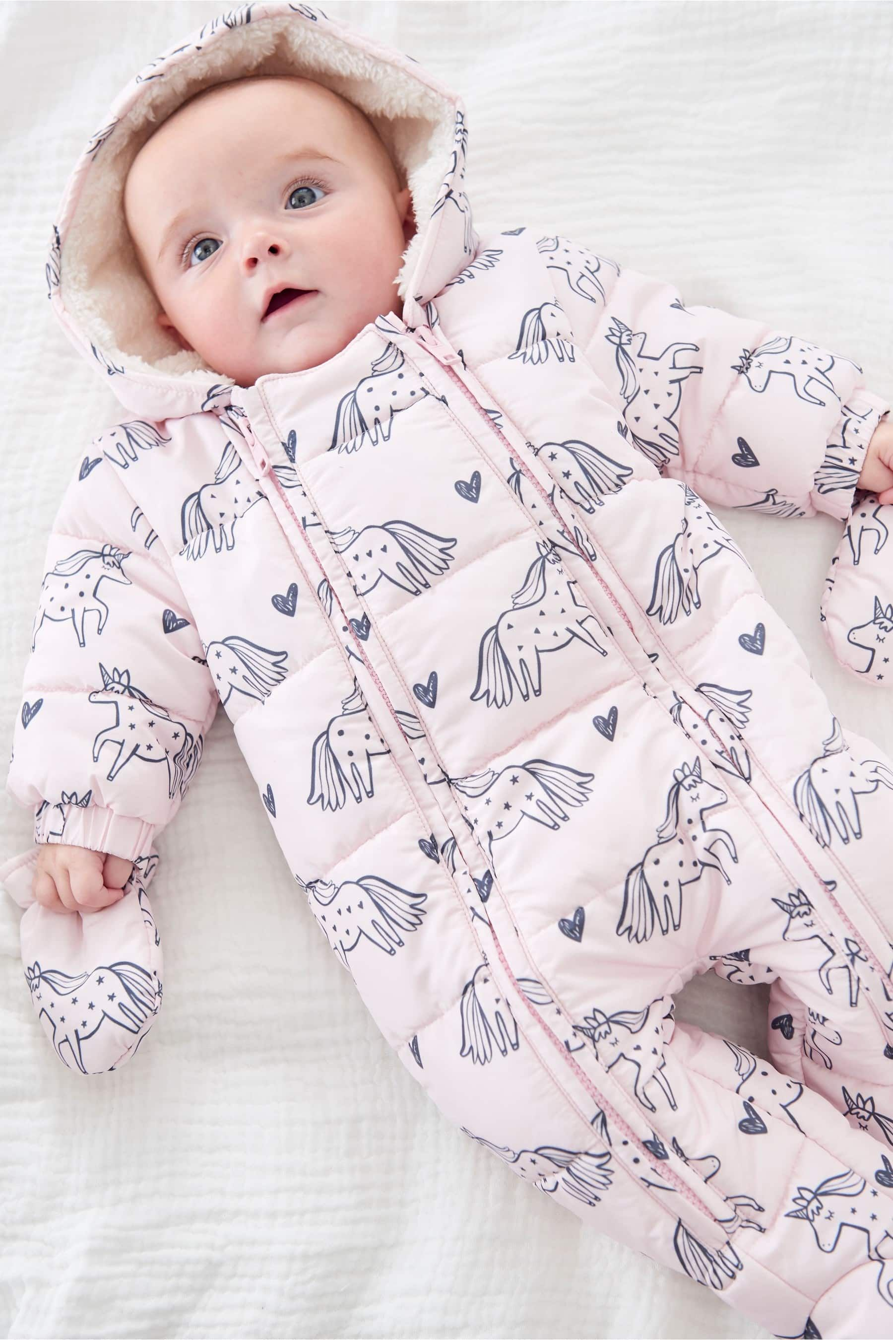f2975d98b933 Buy Pink Unicorn All-In-One (0mths-2yrs) from the Next UK online ...