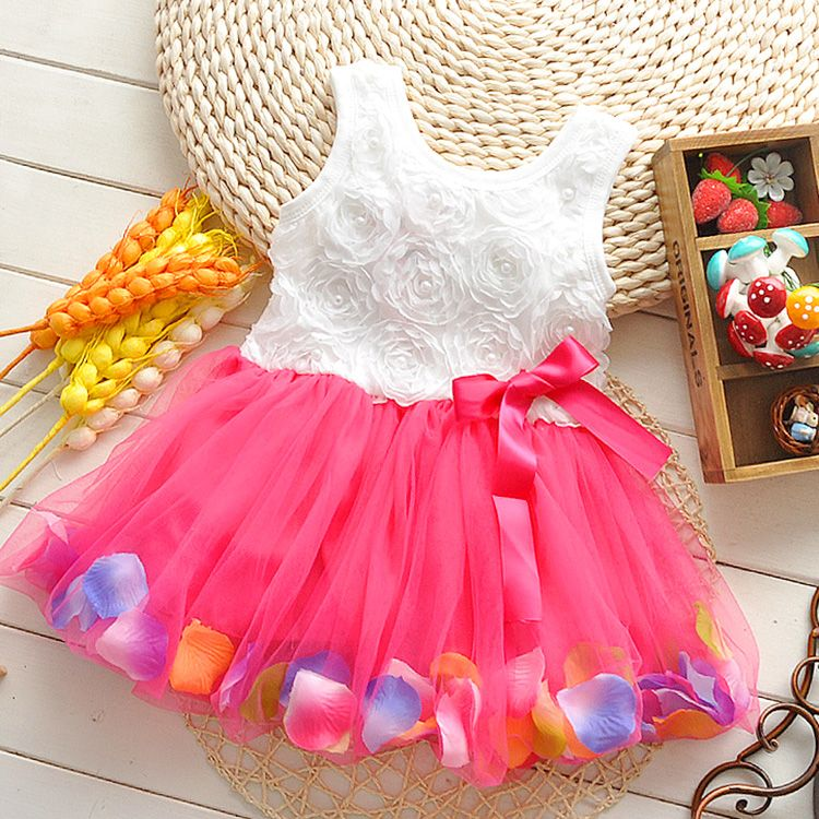 6dc12b907 2017 New Summer baby girls dress for 0 1 2 3 Year birthday clothes ...