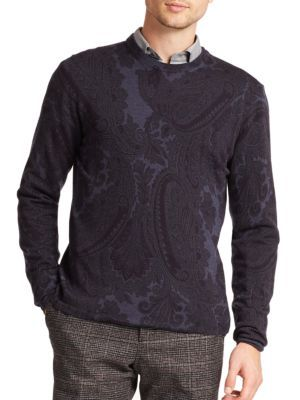 ETRO Paisley Print Wool Pullover. #etro #cloth #pullover