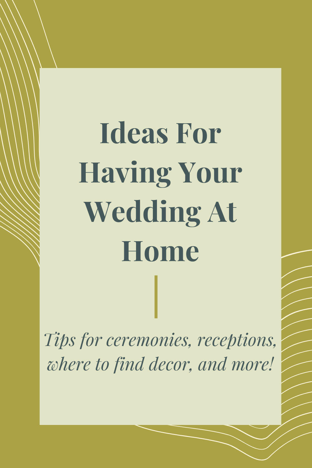 Ideas For Hosting Your Wedding At Home — Madeira Creative