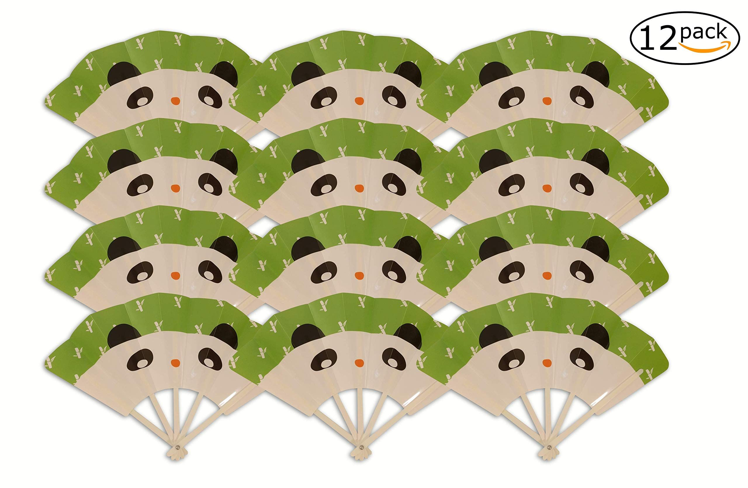 Hand Fans Toddler Birthday Party Favors for Kids; Cat 12ct Fun and Safe; Folding Fan Toys Boys Girls
