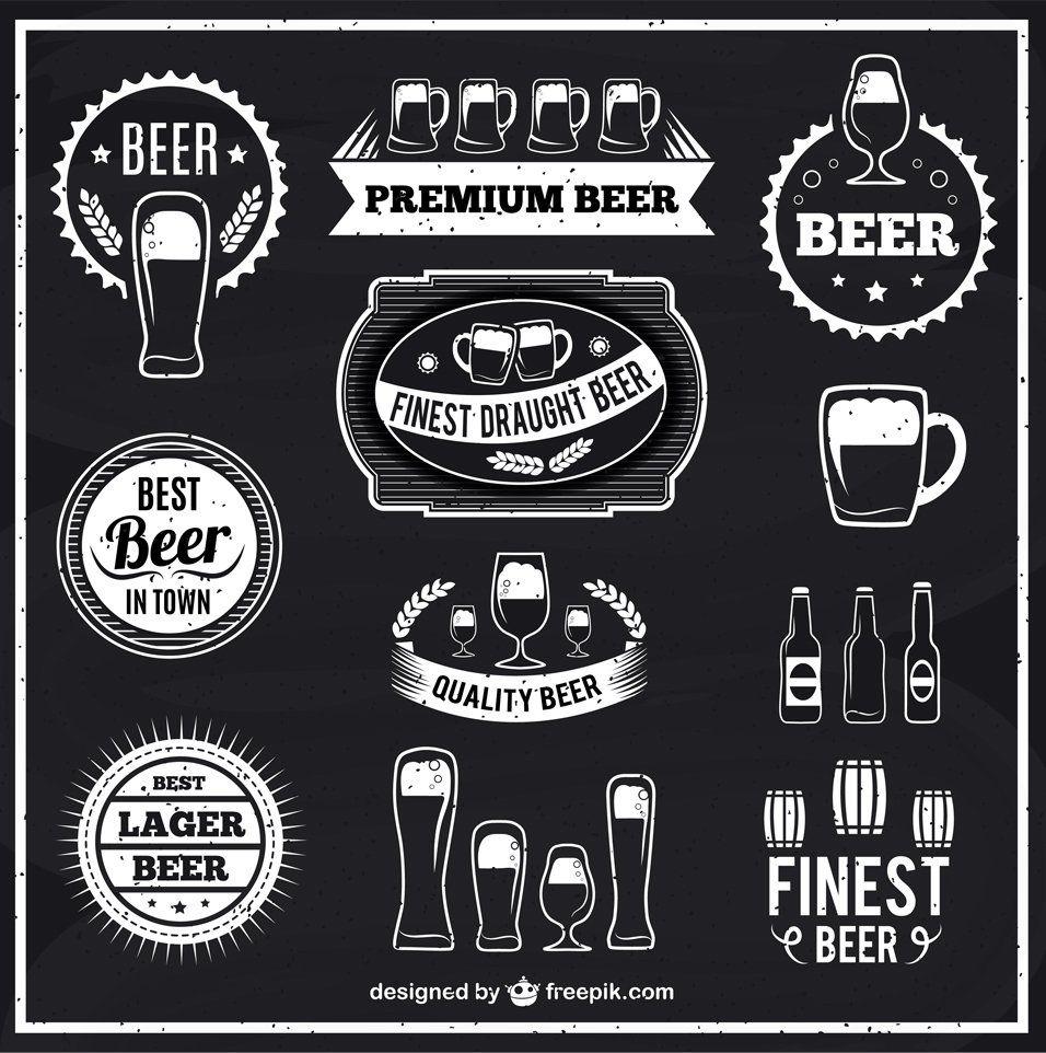 Black and white beer labels Beer logo, Beer art, Beer label