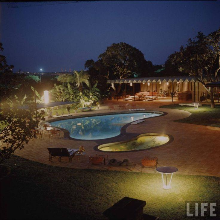 A Suburban Backyard Swimming Pool Photohraphed By Frank