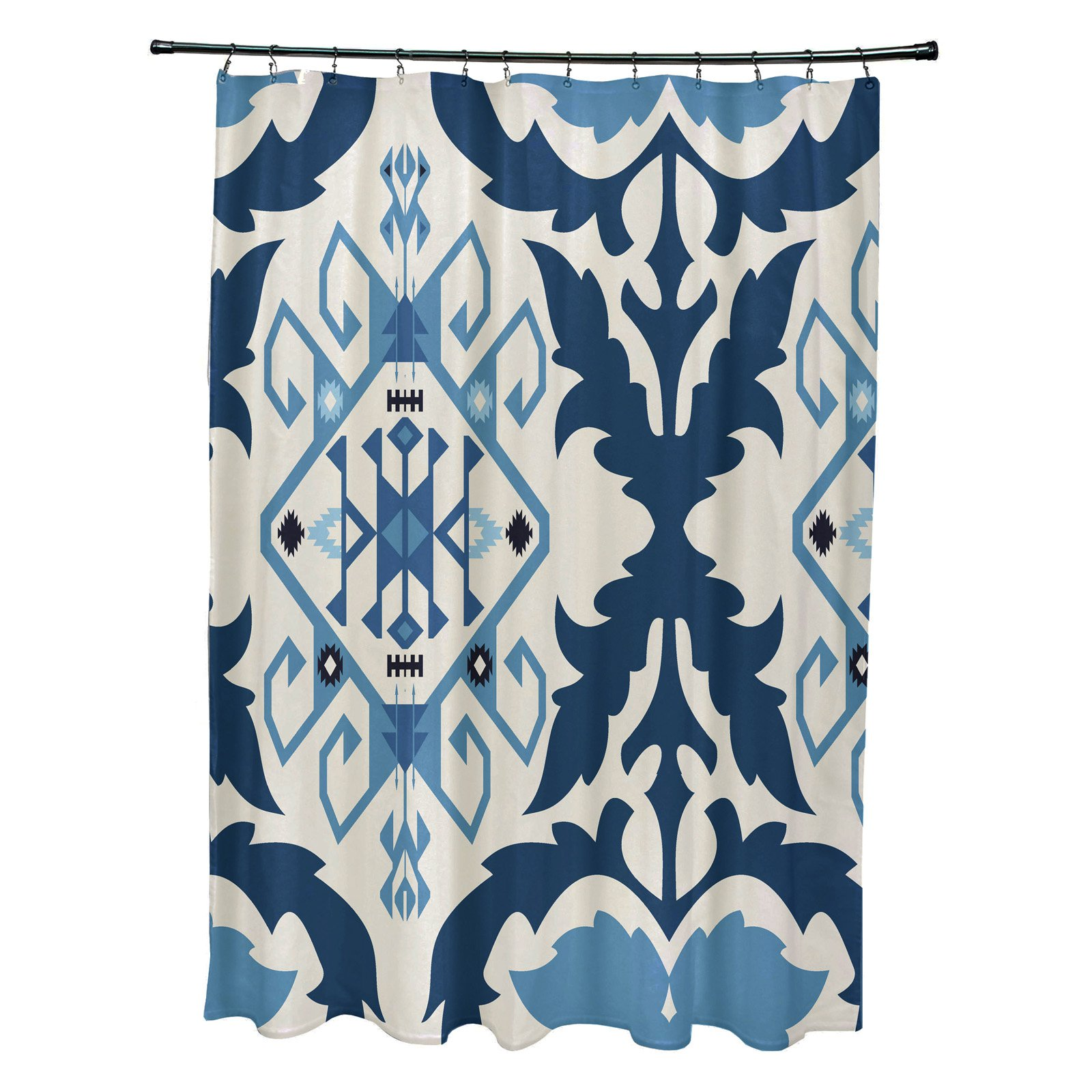E By Design Bombay 6 Shower Curtain Shower Curtains Walmart Colorful Shower Curtain Printed Shower Curtain