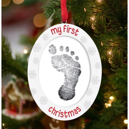 Tiny Ideas My First Christmas Double Sided Print And Photo Ornament Walmart Com Tiny Idea My First Christmas Photo Ornaments