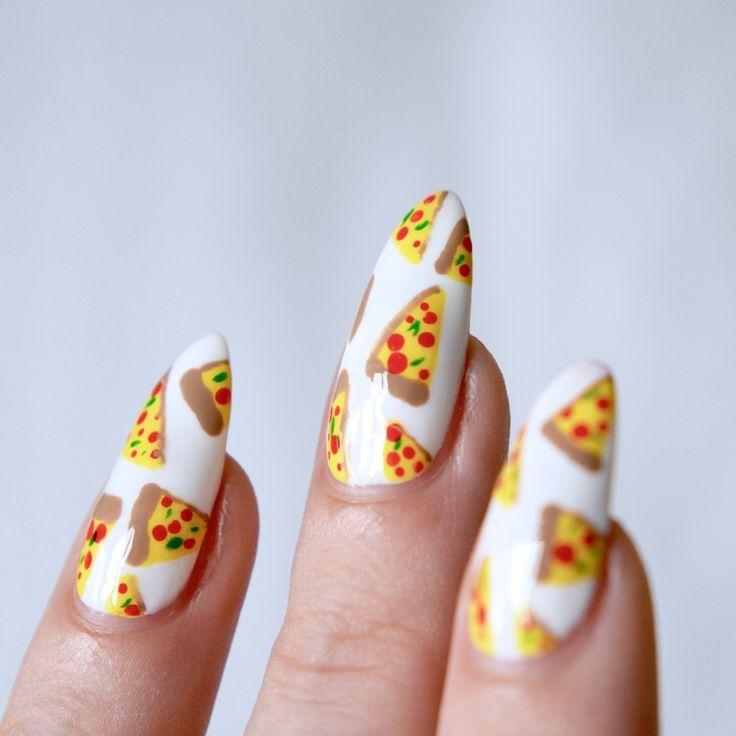MANI MONDAY: Cute Pizza Nail Art | Pinterest | Pizzas, Manicure and ...